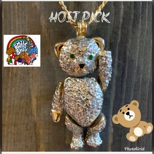 MOVING DANCIN BEAR BROOCH PENDANT VTG 👯‍♀️HP👯‍♀️